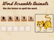 Word Scramble Animals